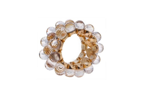 Beige Crystal Bead Napkin Ring collection with 1 products
