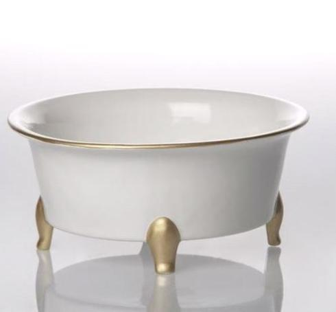 FOOTED CENTERPIECE BOWL WHITE/GOLD collection with 1 products
