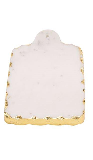 $14.00 Small Rect Gold Marble Board