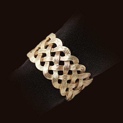 L'Objet  Gold Braid Set of 4 Napkin Rings $120.00
