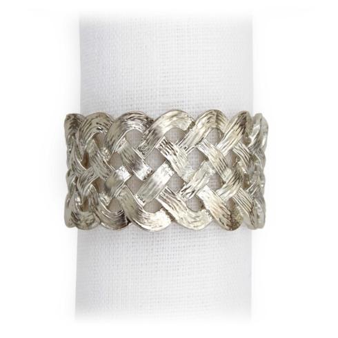 L'Objet  Platinum Braid Napkin Rings, set of 4 $130.00
