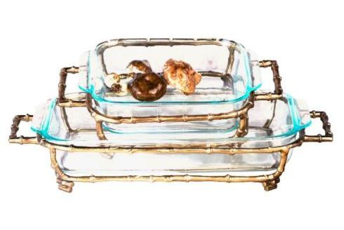 Bailey\'s Exclusives  Bailey\'s Fine Jewelry Square Gold Bamboo Pyrex Holder $90.00