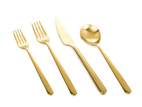 $133.35 Linea Ice Oro 4 pc Flatware Set