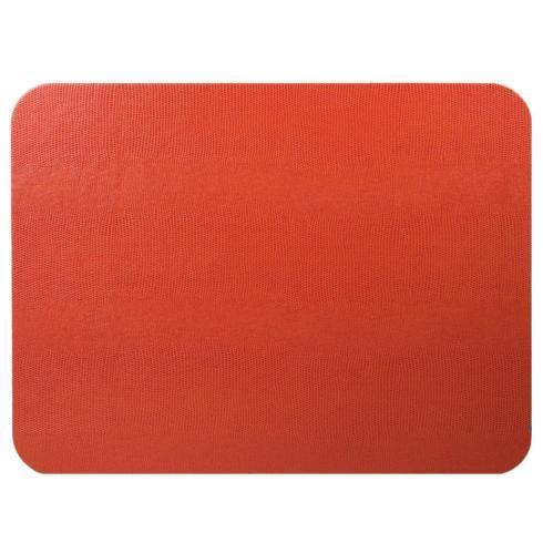 Caspari   Lizard Felt-Backed Placemats (Orange) $12.50