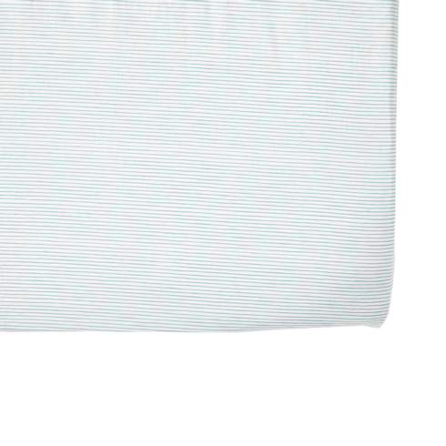 $36.00 Blue Pencil Stripe Crib Sheet