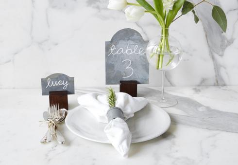 $38.00 Wooden place card holders S/4