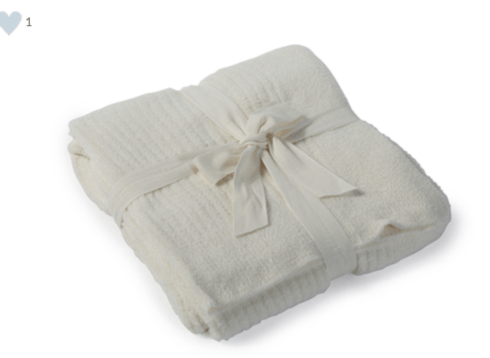 $167.00 Cozy Chic Lite Ribbed Throw, Cream