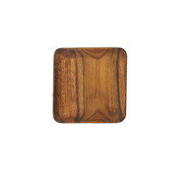"$12.95 Acacia Wood 7"" Plate"