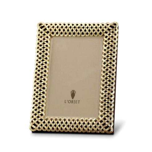 L'Objet   Gold Braid 4x6 Picture Frame $160.00