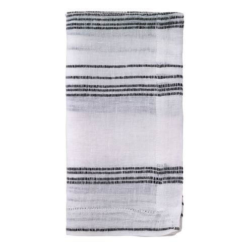 "$81.00 Black & White 22"" Napkin - Pack of 4"