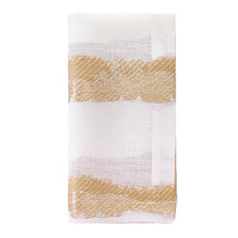 "Bodrum  Brushstroke Gold 21"" Napkin - Pack of 4 $90.00"