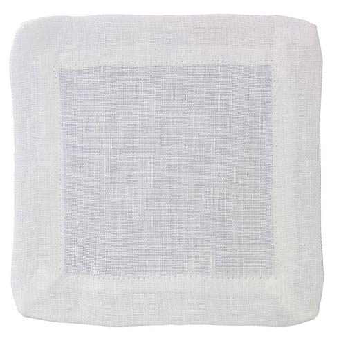 Bodrum  Brittany White Cocktail Napkin - Pack of 4 $19.99