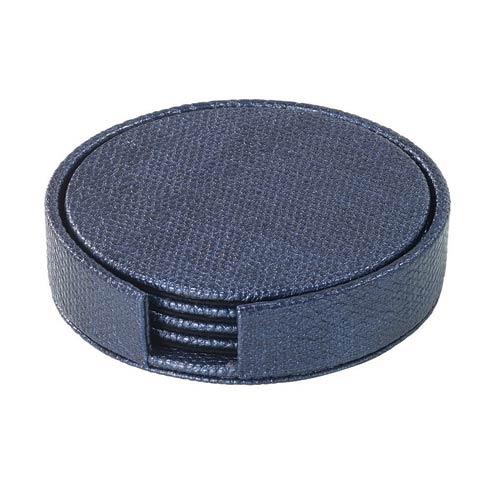 $50.00 Navy Round Boxed Coaster - Set of 4