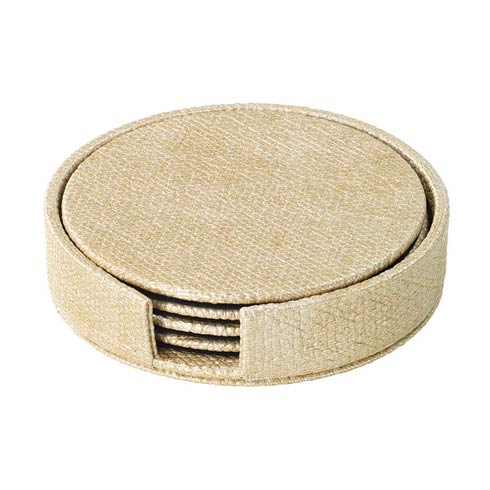 Bodrum  Luster Boxed Coaster Set Gold Round Boxed Coaster - Set of 4 $49.50