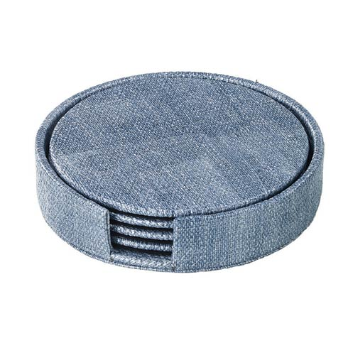 $50.00 Ice Blue Round Boxed Coaster - Set of 4