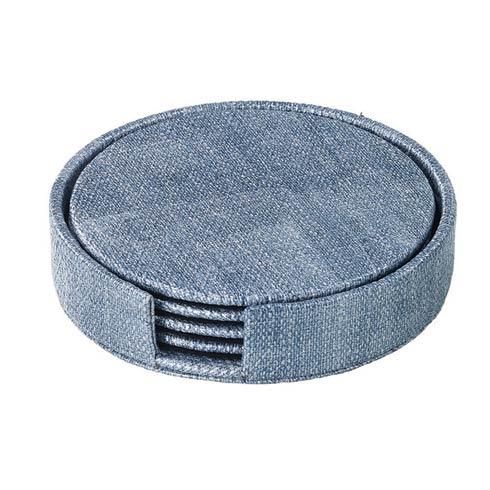 $49.50 Ice Blue Round Boxed Coaster - Set of 4