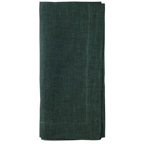 "Bodrum  Chambray Emerald 21"" Napkins - Pack of 4 $46.99"