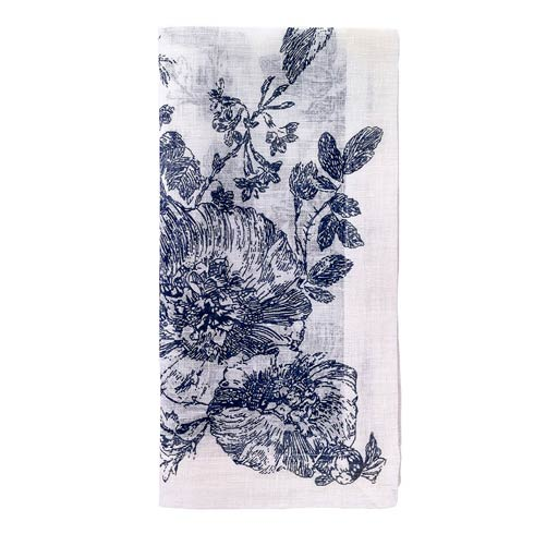 "Bodrum  French Garden Navy 22"" Napkin - Pack of 4 $72.00"