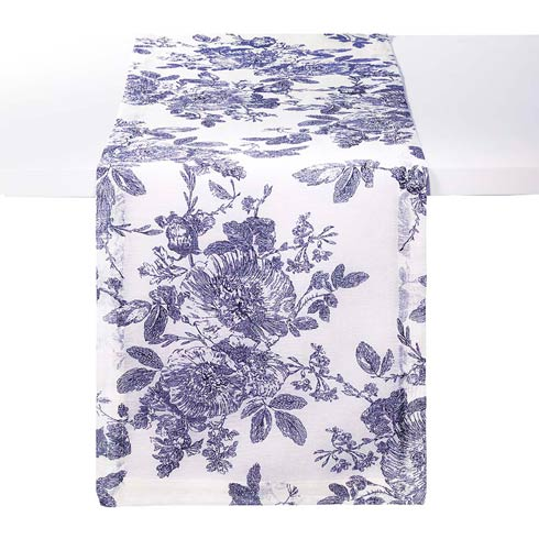 "Bodrum  French Garden Navy 90"" Runner $37.99"