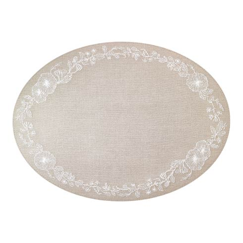 $144.00 Oatmeal White Mats - Pack of 4
