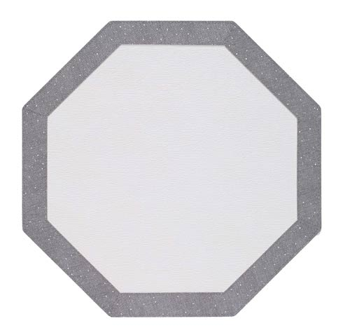 $108.00 Silver Sparkle Octagon Mat - Pack of 4