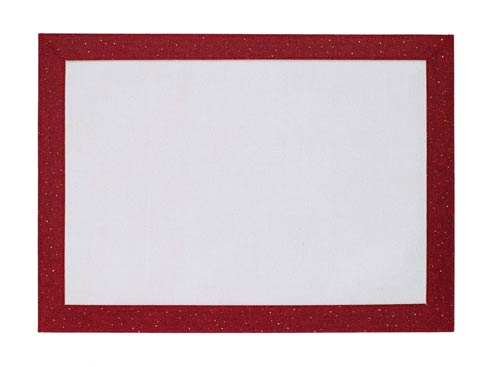 $162.00 Ruby Sparkle rectangle Mat - Pack of 6