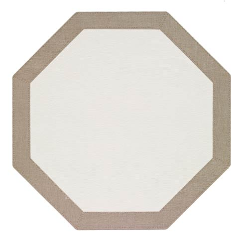 Bodrum  Bordino White Oatmeal Octagon Mat - Pack of 4 $108.00