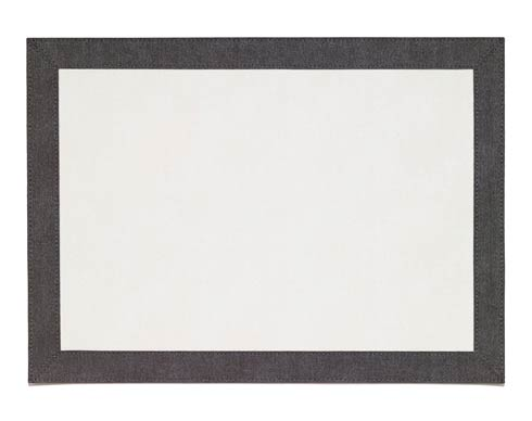 Bodrum  Bordino White Charcoal Rectangle Mat - Pack of 4 $108.00