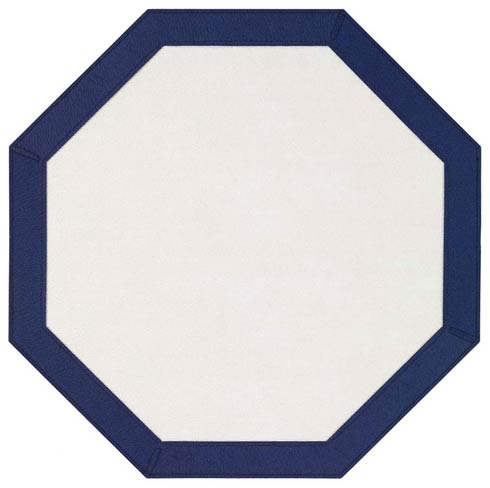 Bodrum  Bordino White Navy Octagon Mat - Pack of 4 $108.00