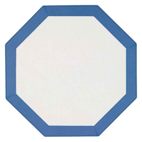 Bodrum  Bordino White Periwinkle Octagon Mat - Pack of 4 $108.00