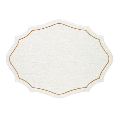 Bodrum  Byzantine White Gold Mats - Pack of 4 $144.00