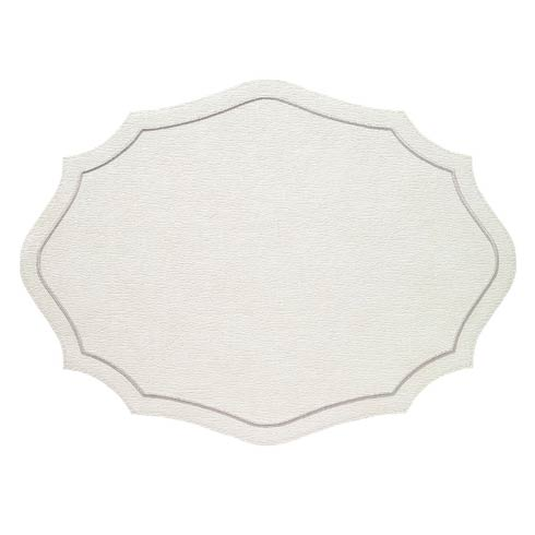 Bodrum  Byzantine White Silver Mats - Pack of 4 $144.00