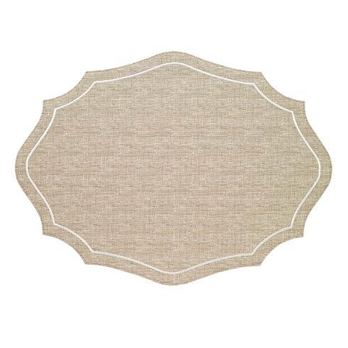 Bodrum  Byzantine Beige White Mats - Pack of 4 $144.00