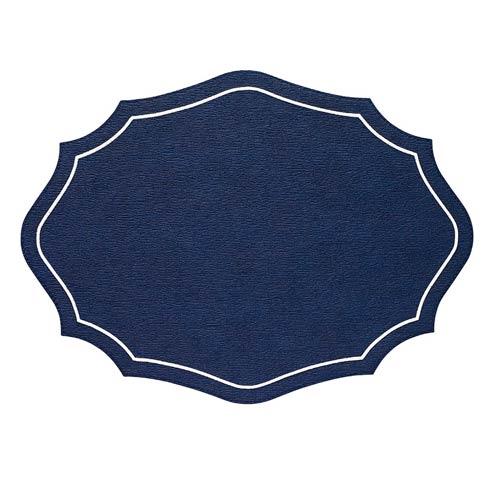Bodrum  Byzantine Navy White  Mats - Pack of 4 $144.00