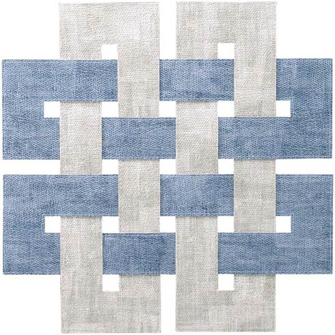 Ice Blue/Granite Placemat - Pack of 4