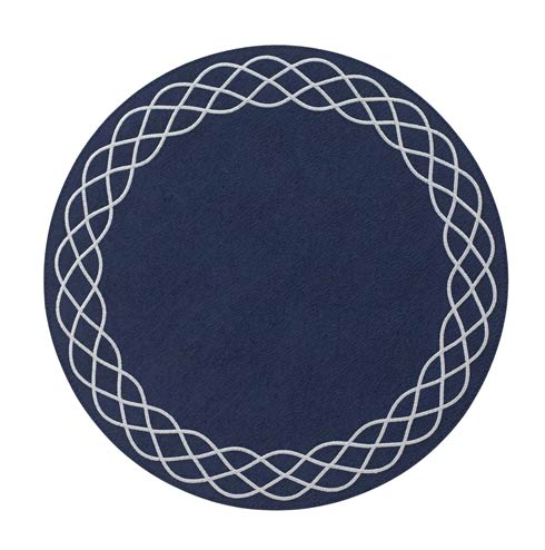 "Bodrum  Helix Navy Gunmetal 15"" Rd Mat - Pack of 4 $126.00"
