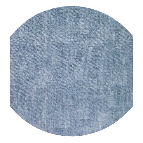 "Bodrum  Luster Ice Blue 16"" Elliptic Mats - Pack of 4 $144.00"
