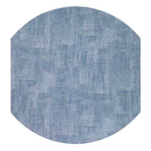 "Bodrum  Luster Ice Blue 16"" Elliptic Mats - Pack of 4 $144.00"
