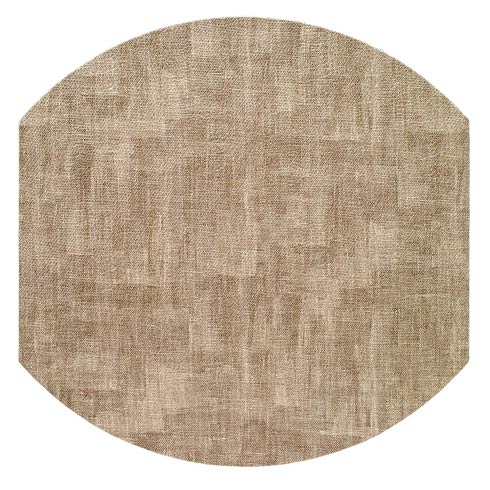 """Bodrum  Luster Sand 16"""" Eliptic Mats - Pack of 4 $144.00"""