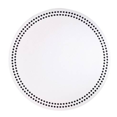 $139.50 White Black Mats - Pack of 4