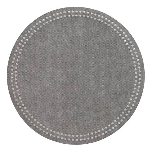 Bodrum  Pearls Gray Silver Mats Pack of 4 $126.00