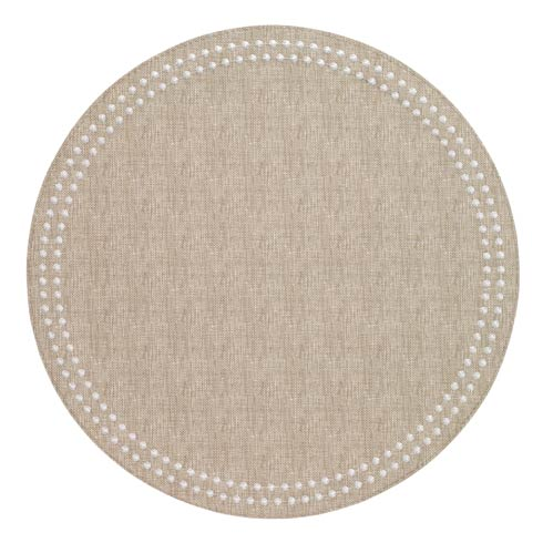 Bodrum  Pearls Beige White Mats Pack of 4 $126.00