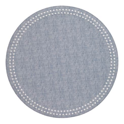 Bodrum  Pearls Bluebell White Mats Pack of 4 $126.00