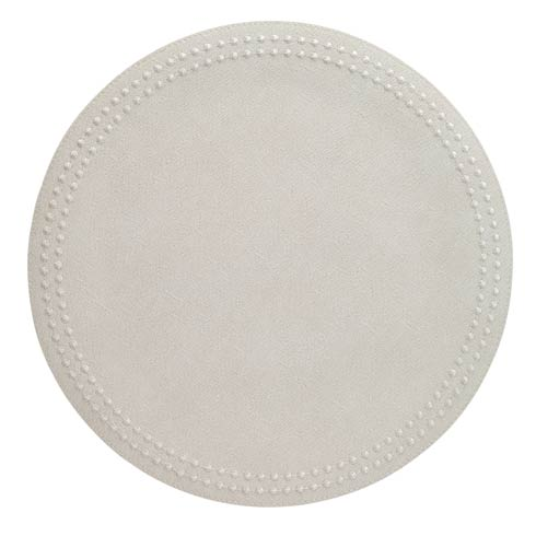 Bodrum  Pearls White White Mats Pack of 4 $126.00