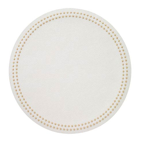 Bodrum  Pearls Antique White/Gold Mats - Pack of 4 $131.00
