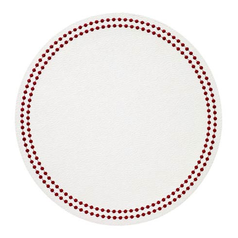 $139.50 Antique White/Ruby Mats - Pack of 4