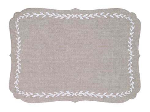 Bodrum  Laurel Oatmeal White Mat - Pack of 6 $216.00