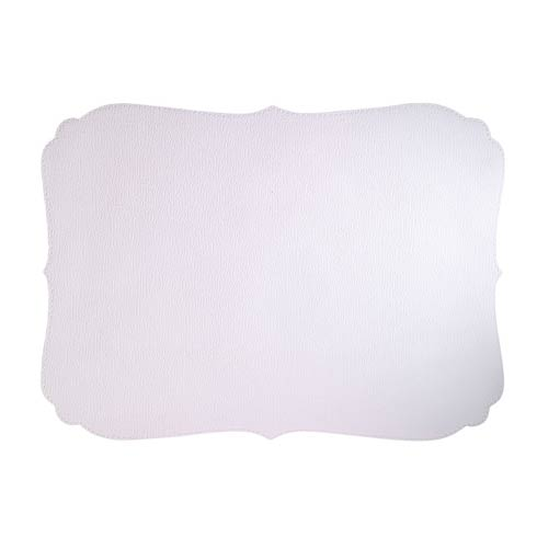 Bodrum  Curly Pure White Mats - Pack of 6 $135.00