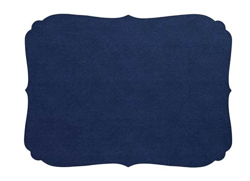 Bodrum  Curly Navy Oblong Mat - Pack of 4 $90.00