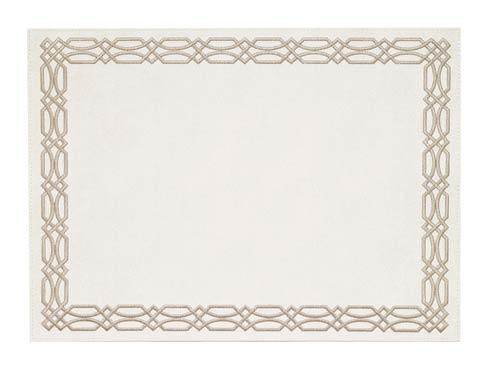 Bodrum  Trellis White Taupe Mat - Pack of 6 $189.00